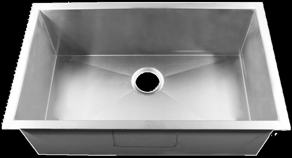 Attrayant Homeplace Crockett (Zero Edge Or Radial) 15 Gauge Stainless Steel Single  Bowl Flat Rim Sink