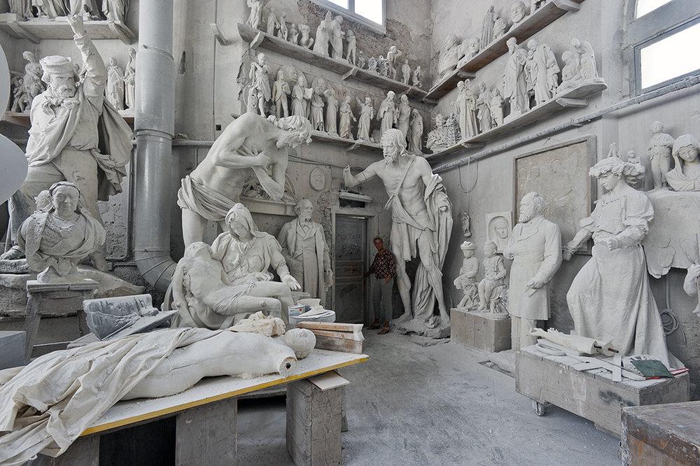 a marble studio in Carrara