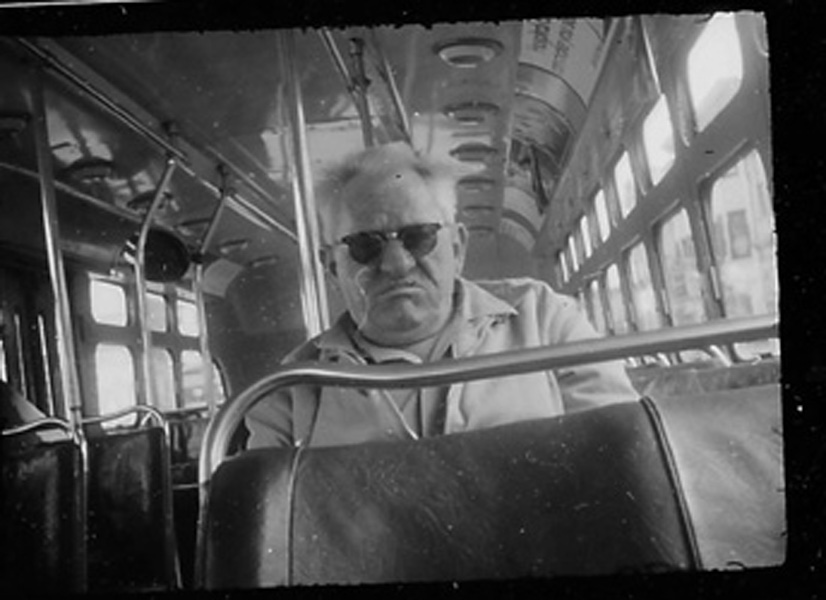 Maury Edelstein<br> Untitled (SF Muni), 1965<br> Silver gelatin print from Minox negative, 5 x 7 in.