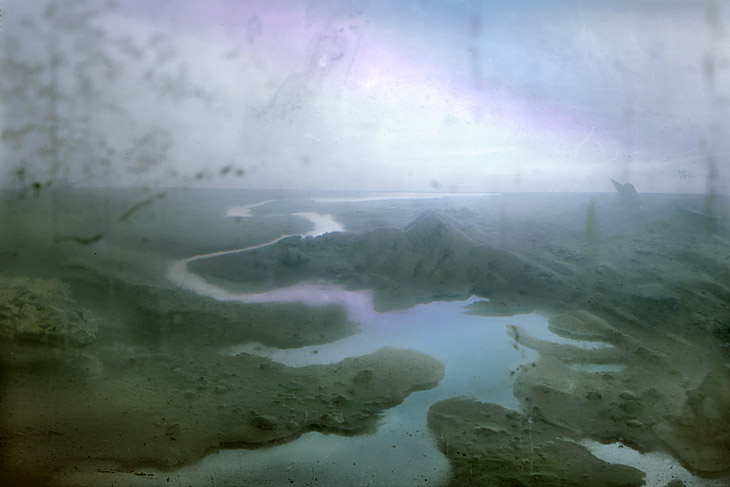 """Blue Delta"" (2002)<br>C-print, edition of 10, 13 x 19 in."