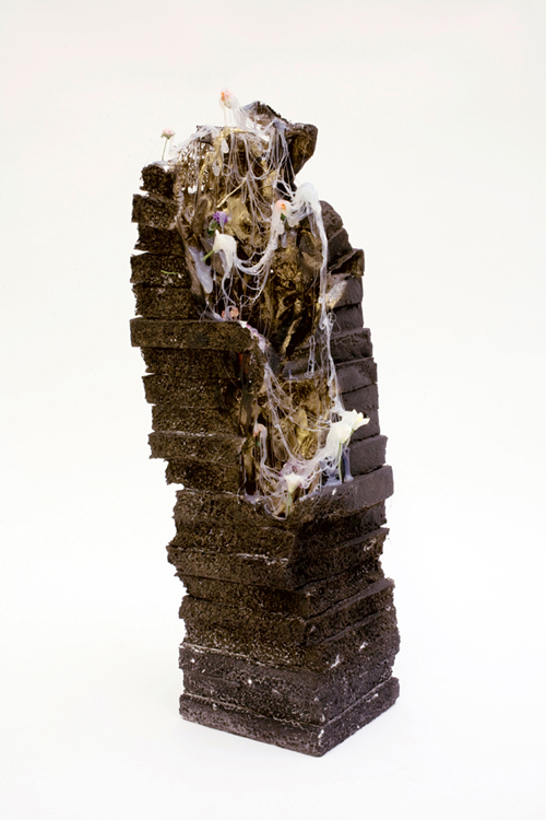 """Point to Point"" (2011)<br>Various media, 21 x 6 x 6 inches."