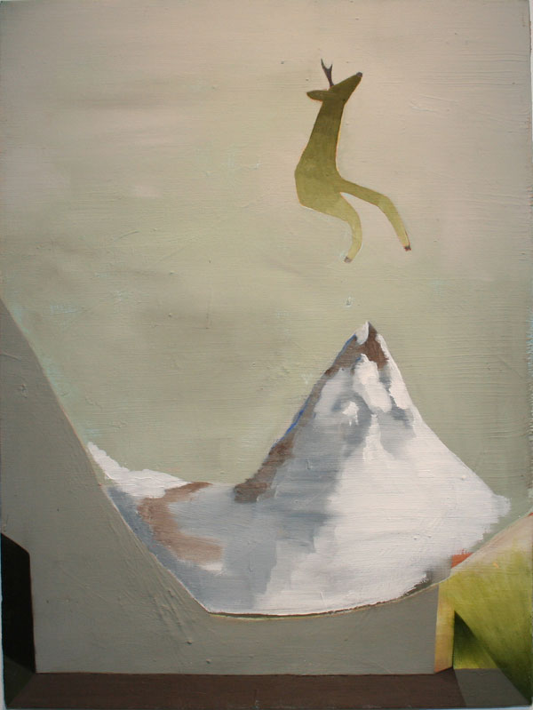 """Stage Is Set"" (2009)<br>Oil on canvas, 24 x 18 inches."