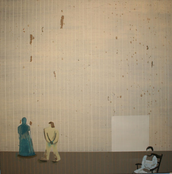 """Literary Figures"" (2009)<br>Oil on canvas, 24 x 24 inches."