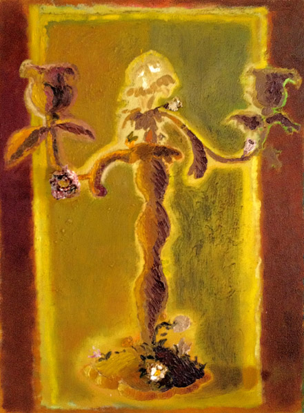 """Rococo Candelabra""<br>Oil on canvas (2012)<br>24 x 18 inches"