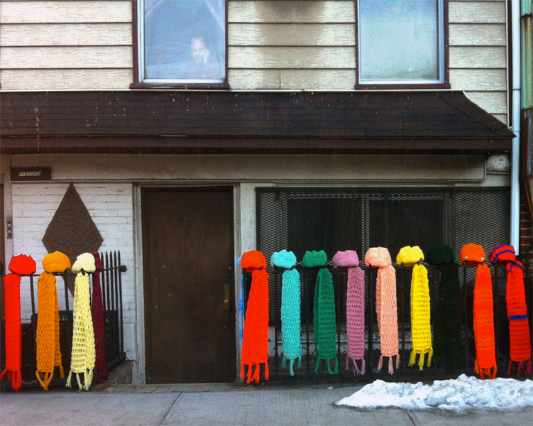 "Elizabeth Huey  ""Selling Scarves"" (2012) Digital C-print, 16 x 20 inches"