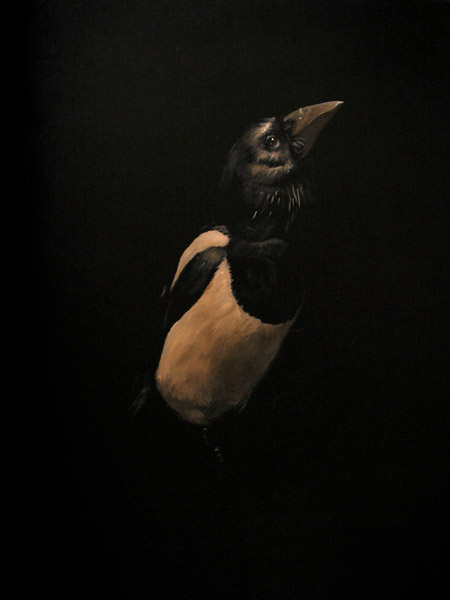 """Magpie"" (2012) Oil on panel, 14 x 11 in."