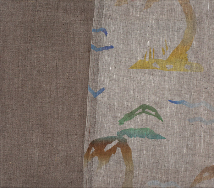Bryson Gill  Untitled (Textile 2), (2011) Oil on linen, 13 x 15 inches