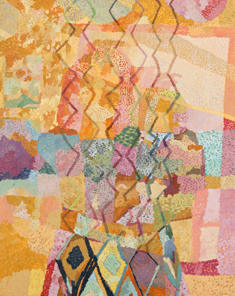 Rachel Kaye  Zig-Zag (2011) Oil on canvas, 30 x 24 inches