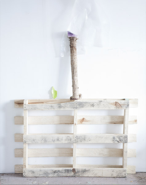 "Heidi Norton  ""Studio Pallet (with dead stem & wax)"" (2011) Archival pigment print, 19 3/4 x 15 7/8 inches."