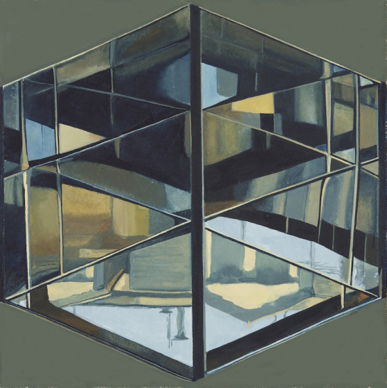 "Zoe Pettijohn Schade ""Infinity Box 9"" (2010) Gouache on paper, 7 x 7 in."