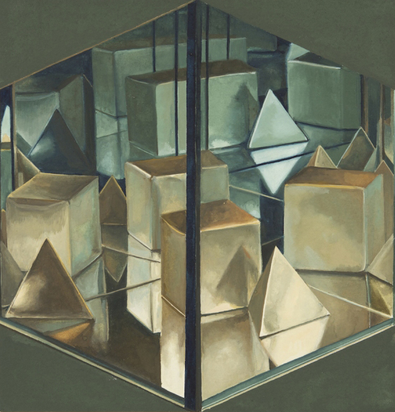 "Zoe Pettijohn Schade ""Infinity Box 11 "" (2010) Gouache on paper, 7 x 7 in."