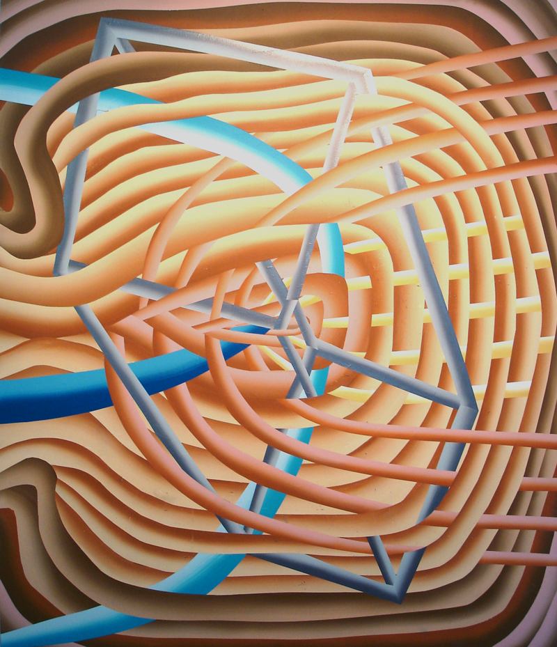 "Lauren Silva  ""Untitled"" (2011) Acrylic on canvas, 83 x 72 in. Enlarge Image"