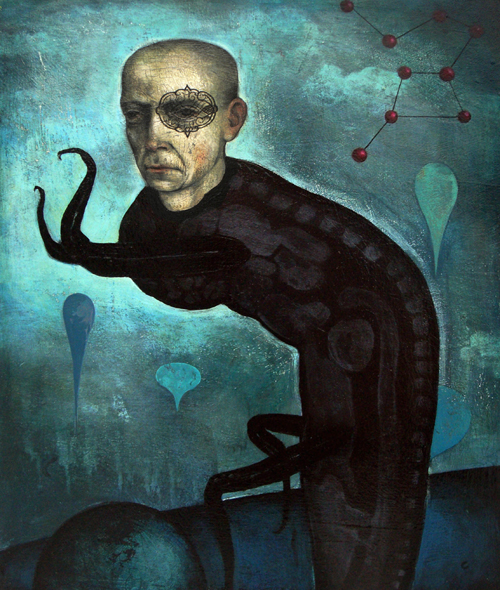 """Creepwalker"" (2008) Acrylic on wood, 36 x 24 in."