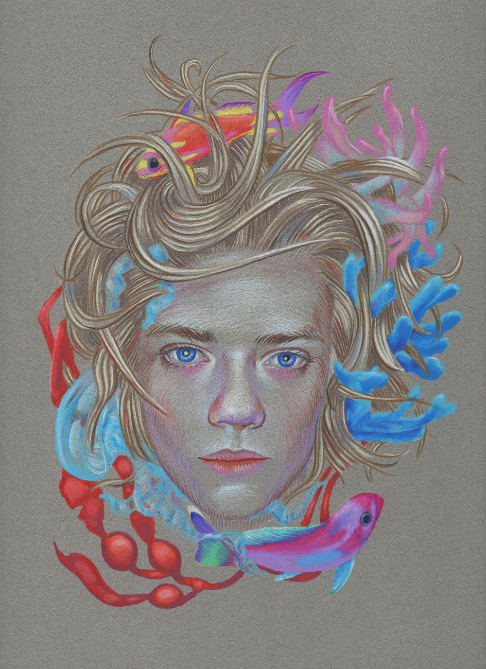 Copy of Untitled. Color pencil on paper. 12 x 9 inches.