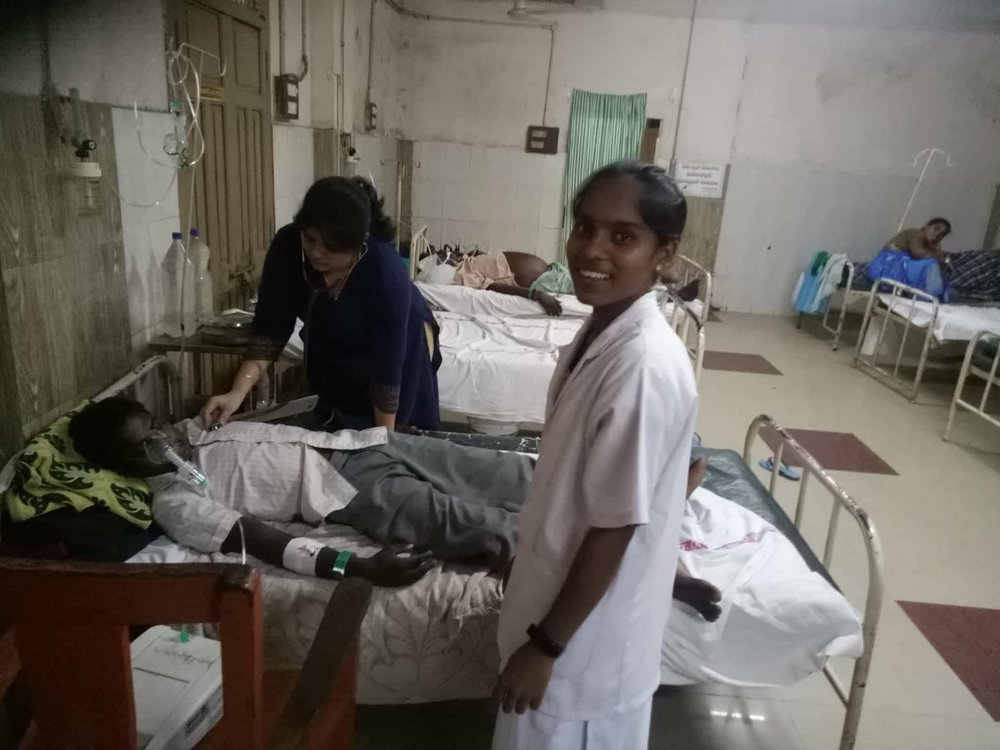 September 2018 - Shanti is in her second year of nursing school and has begun her practical training at a local hospital.