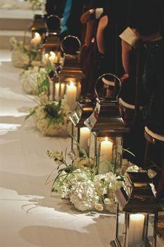 www.kaylabellevents.com. wedding aisle decor, wedding aisle lantern decor, wedding aisle candle decoration