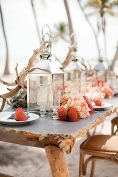 www.kaylabellevents.com, nautical weddings, beach wedding, lantern centerpiece