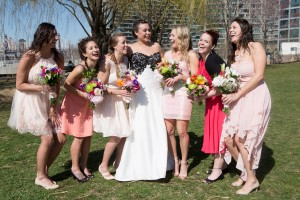 with love to the bridesmaids