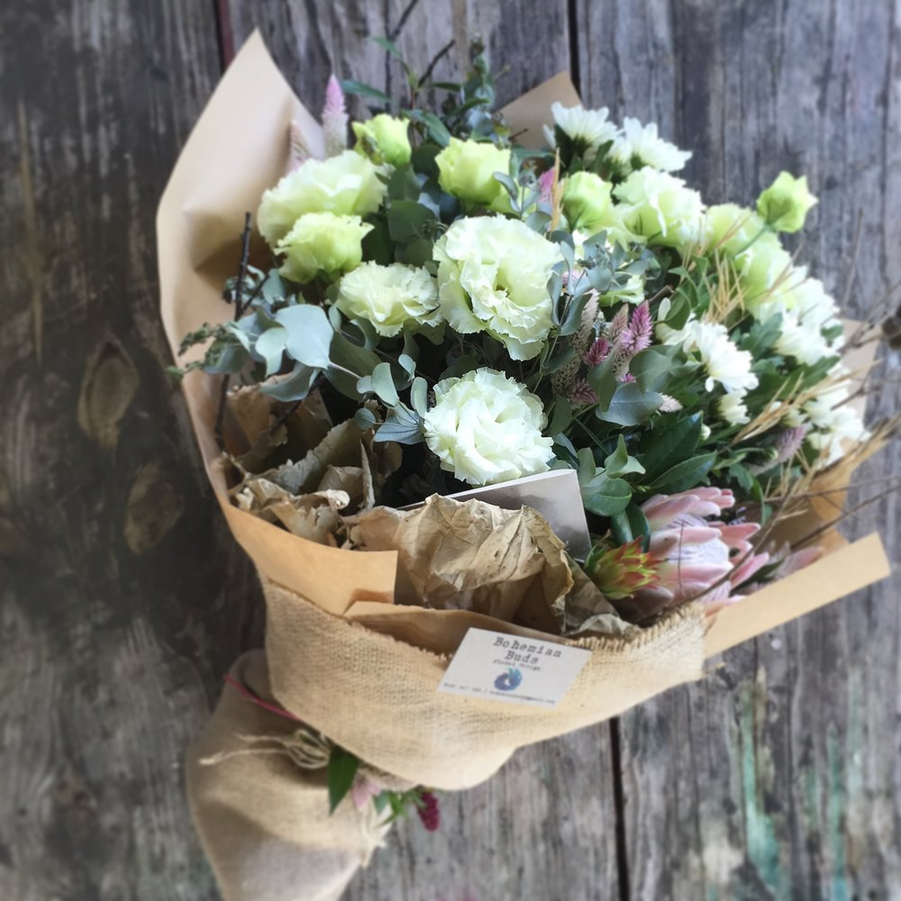 All round bouquet bohemian buds all round bouquet izmirmasajfo