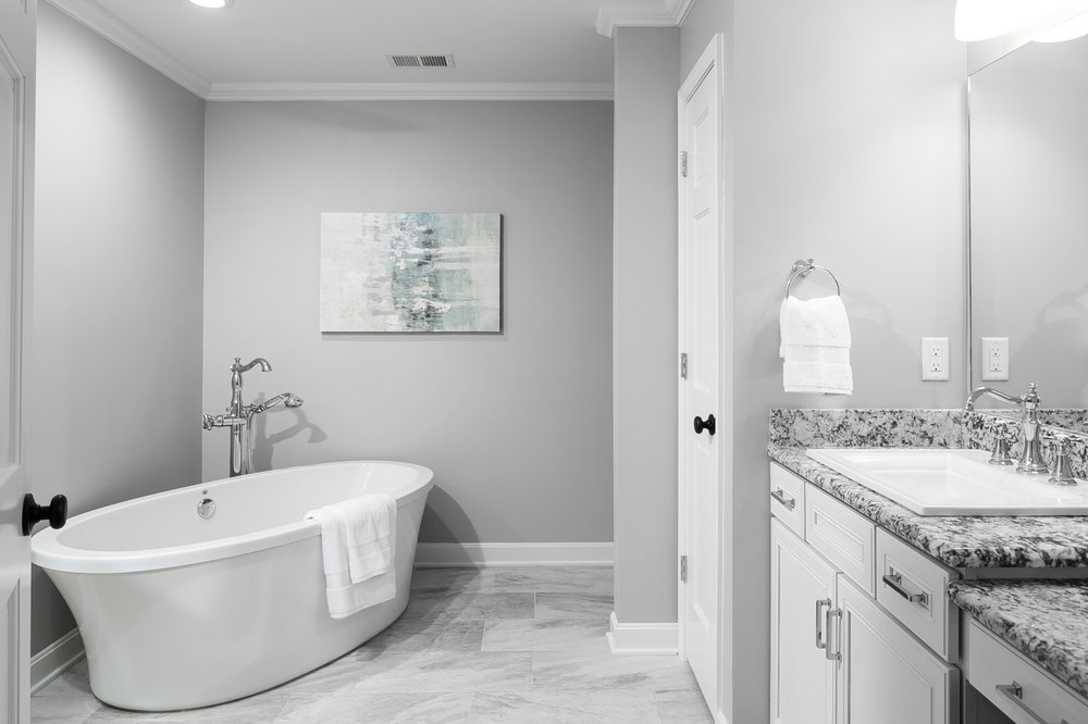 Master bath - one of two sinks shown