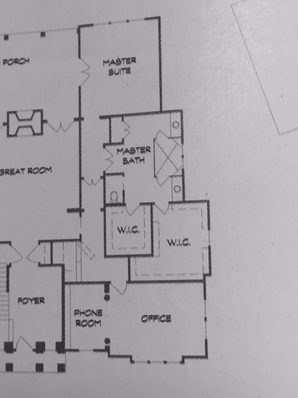 Master Suite floorplan from house #6, the Bridgehampton, by  Artisan Signature Homes