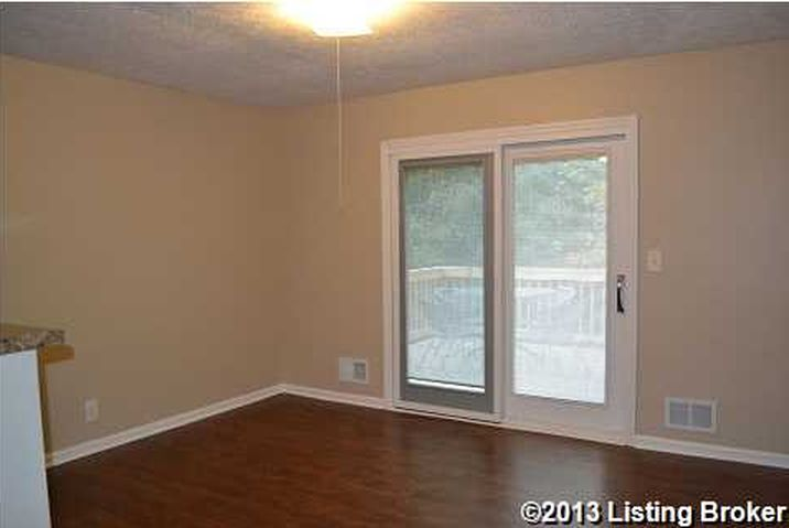 Featuring the sliding door formerly to nowhere, and the former black mold corner.