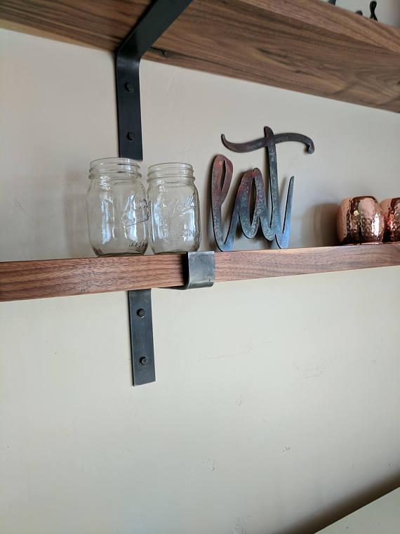 Modern Industrial Shelf Brackets by TiredTruckerDesigns on Etsy