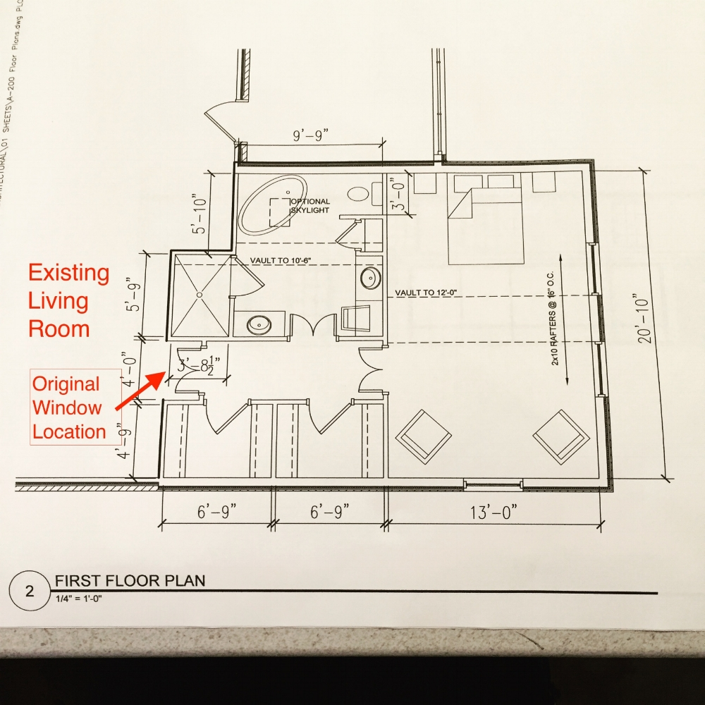 Floor plan for our Canoe Lane master suite addition