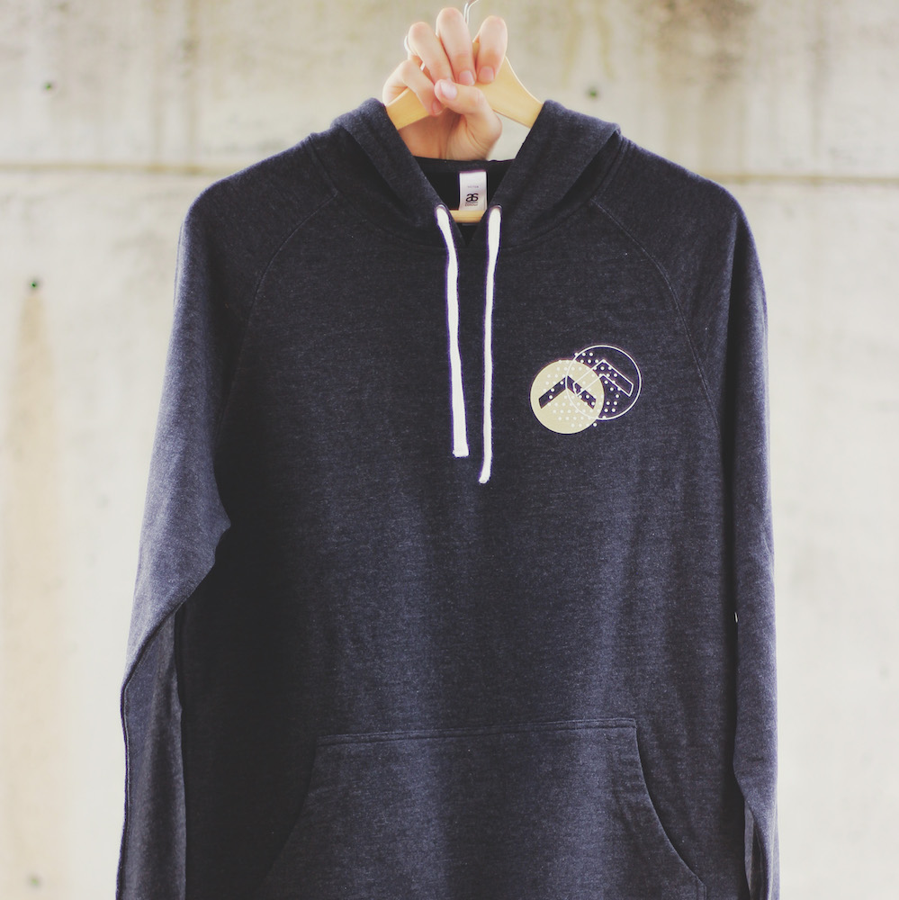 Logo Hoody - Charcoal/GoldPrinted on AS ColourVector Hood