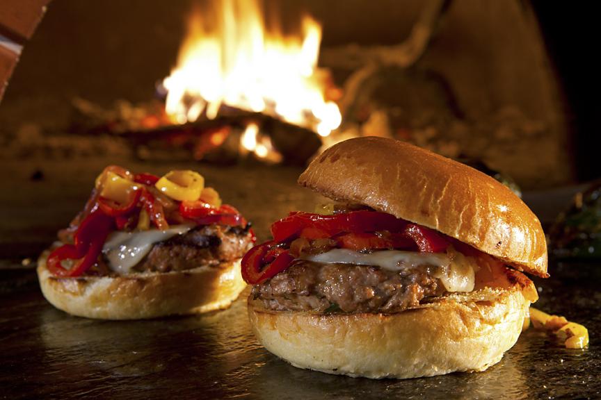 Roasted Red Pepper Turkey Burger