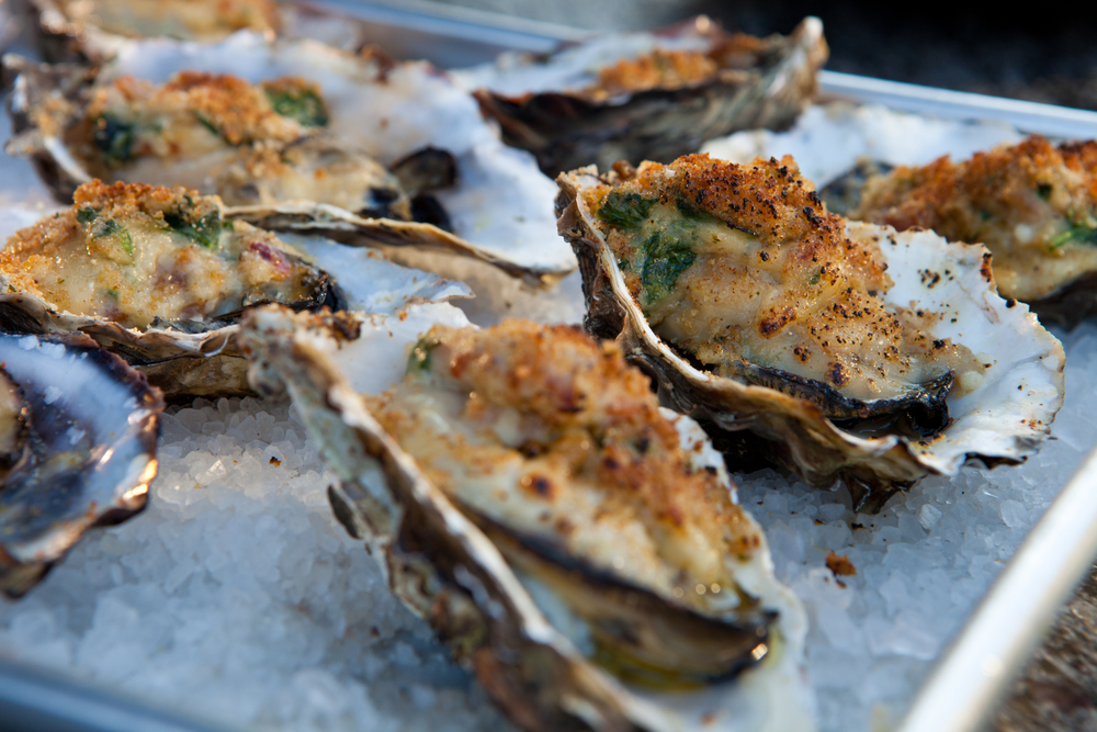Grilled and Breaded Oysters