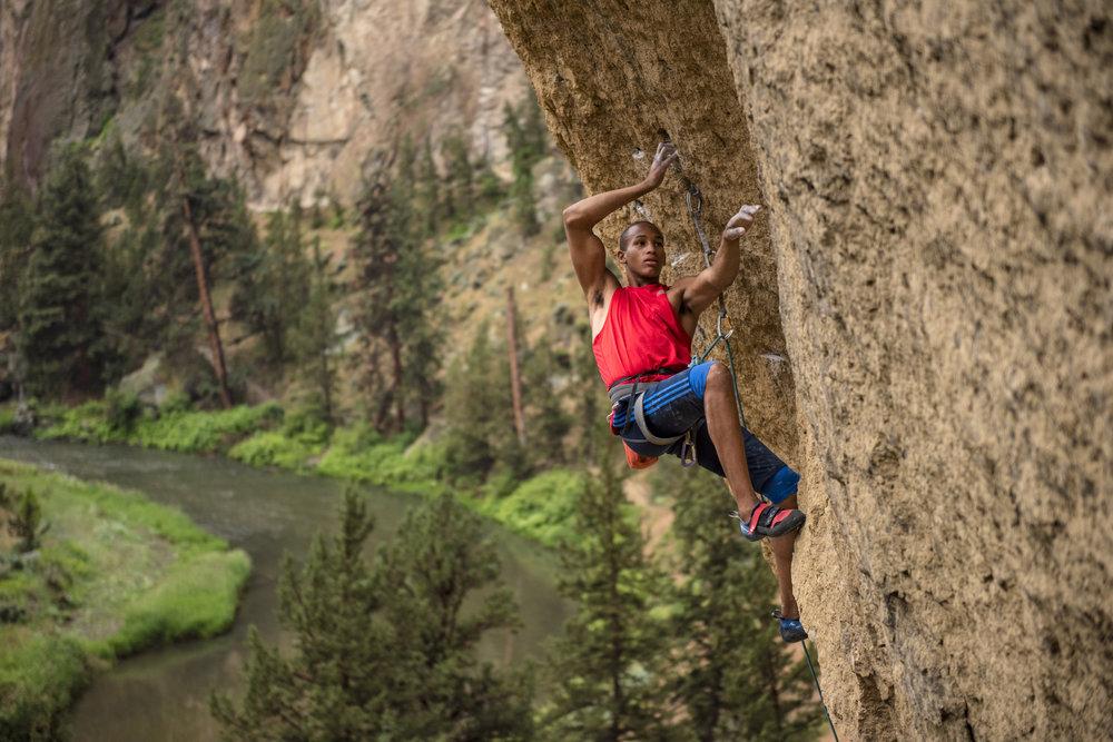 Kai Lightner Climbing