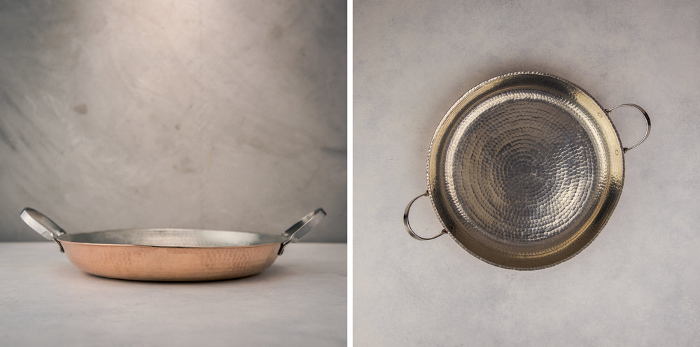 Hand Hammered Copper Pan