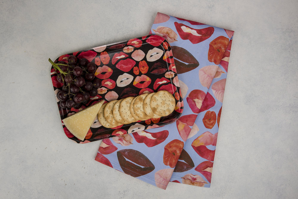 Serving Tray and Towel Set