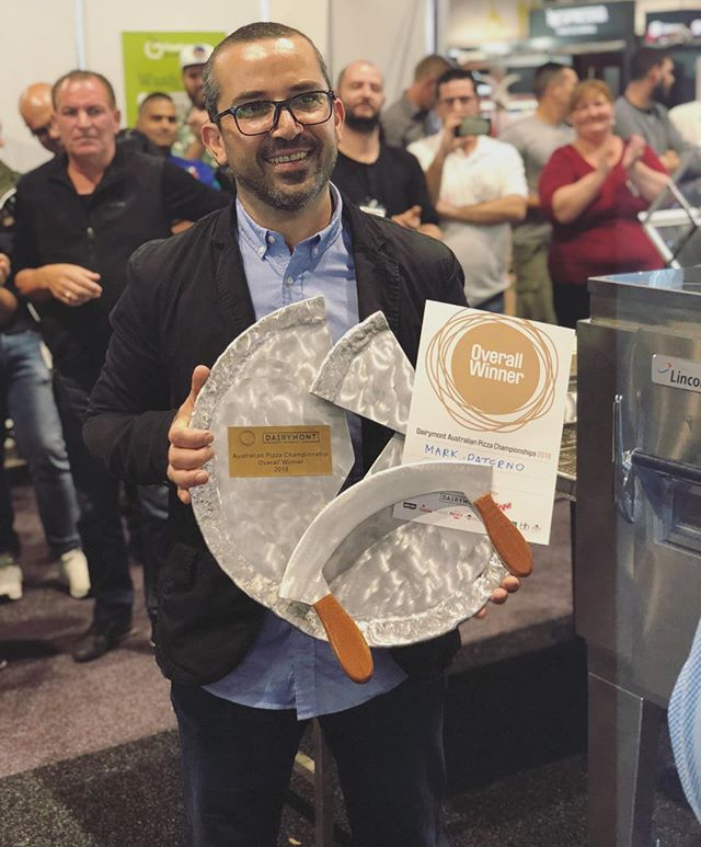 Announcing the overall winner of 2018 Australian Pizza Championships with a score of 376 is Mark Paterno of Arte Bianca Sydney! Well done Mark!!!!! #dairymontaustralianpizzachampionships2018 #officialwinner #winner🏆