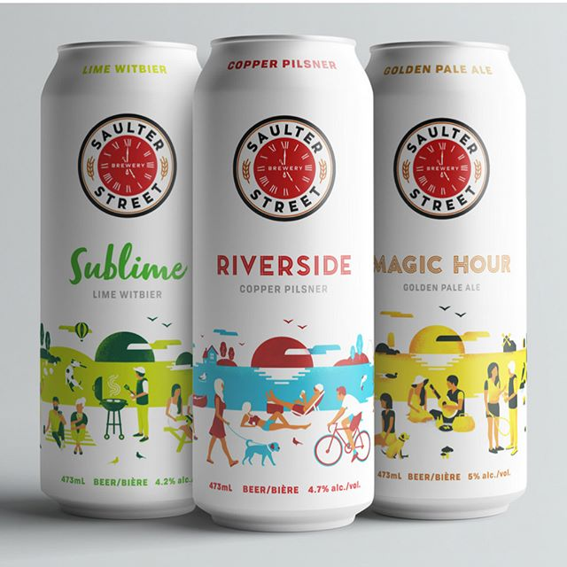 Visit Saulter Street Brewery to share pints with friends and check out the new cans we designed, available in their taproom or at select lcbo's  #cheerstonow #saulterstreetbrewery @saulterstreetbrewery