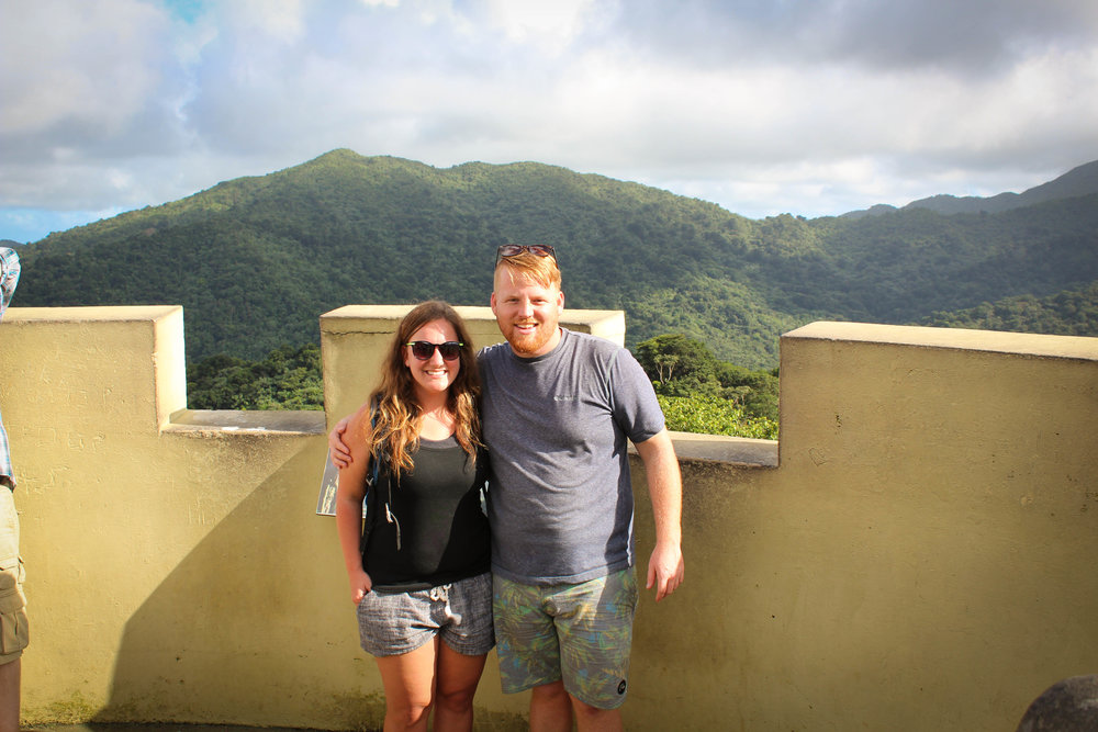 Top of the tower in El Yunque National Forest