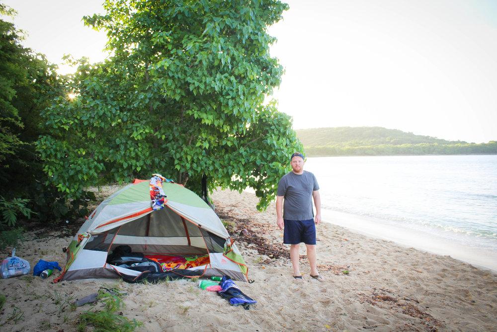 Camping on la caya in Esperanza