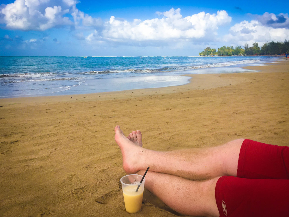 Playa Fortuna and one of our fancy slushy drinks