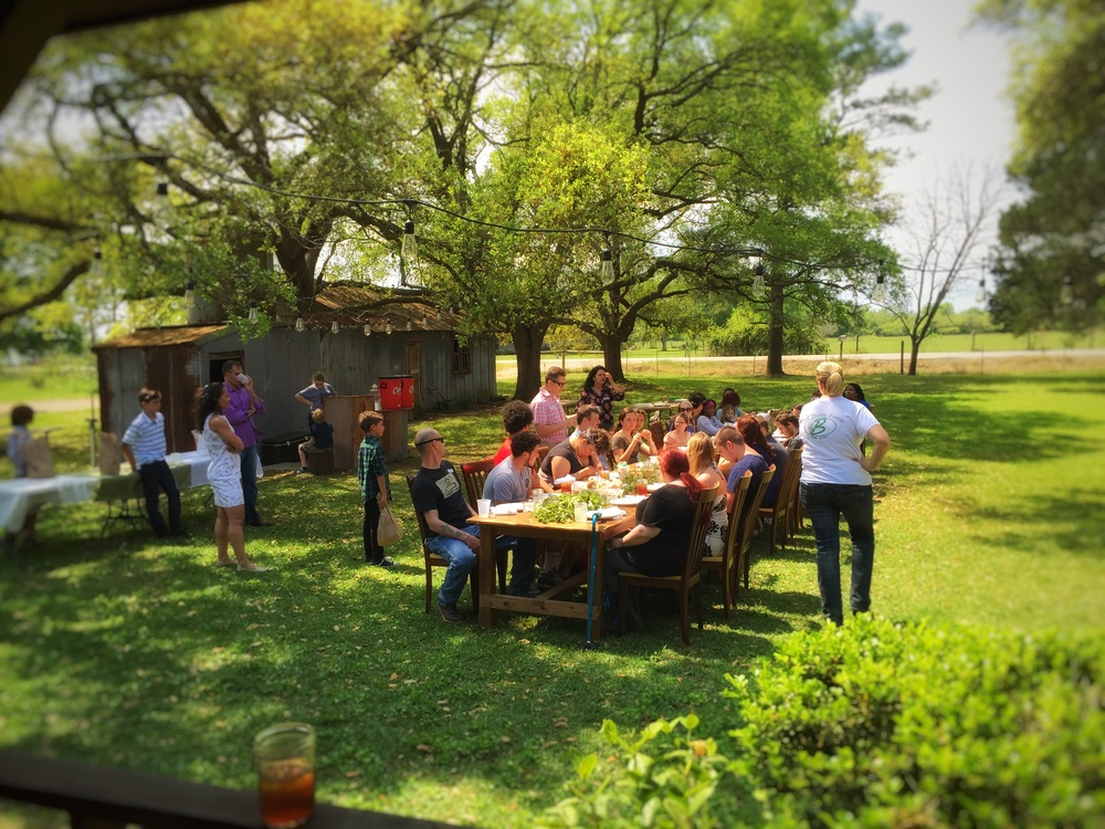 The farmhouse lawn and an Easter Celebration
