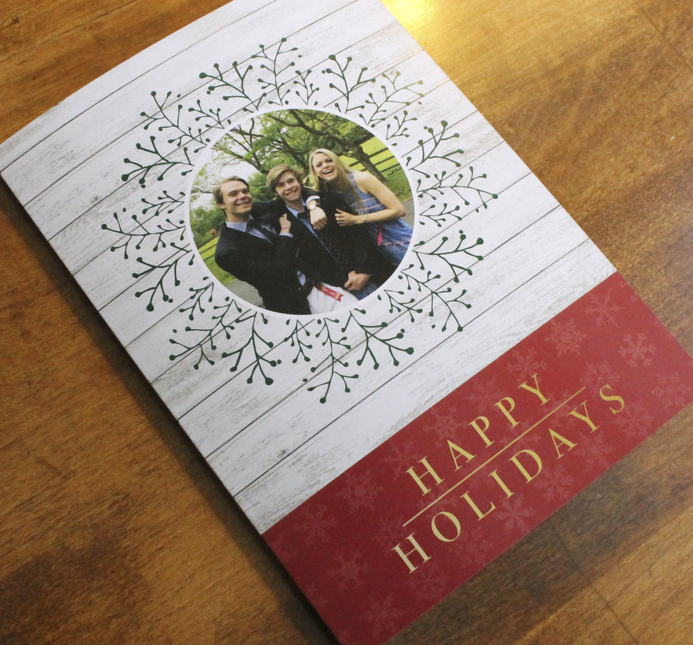 Holiday Card Family Photo Rustic
