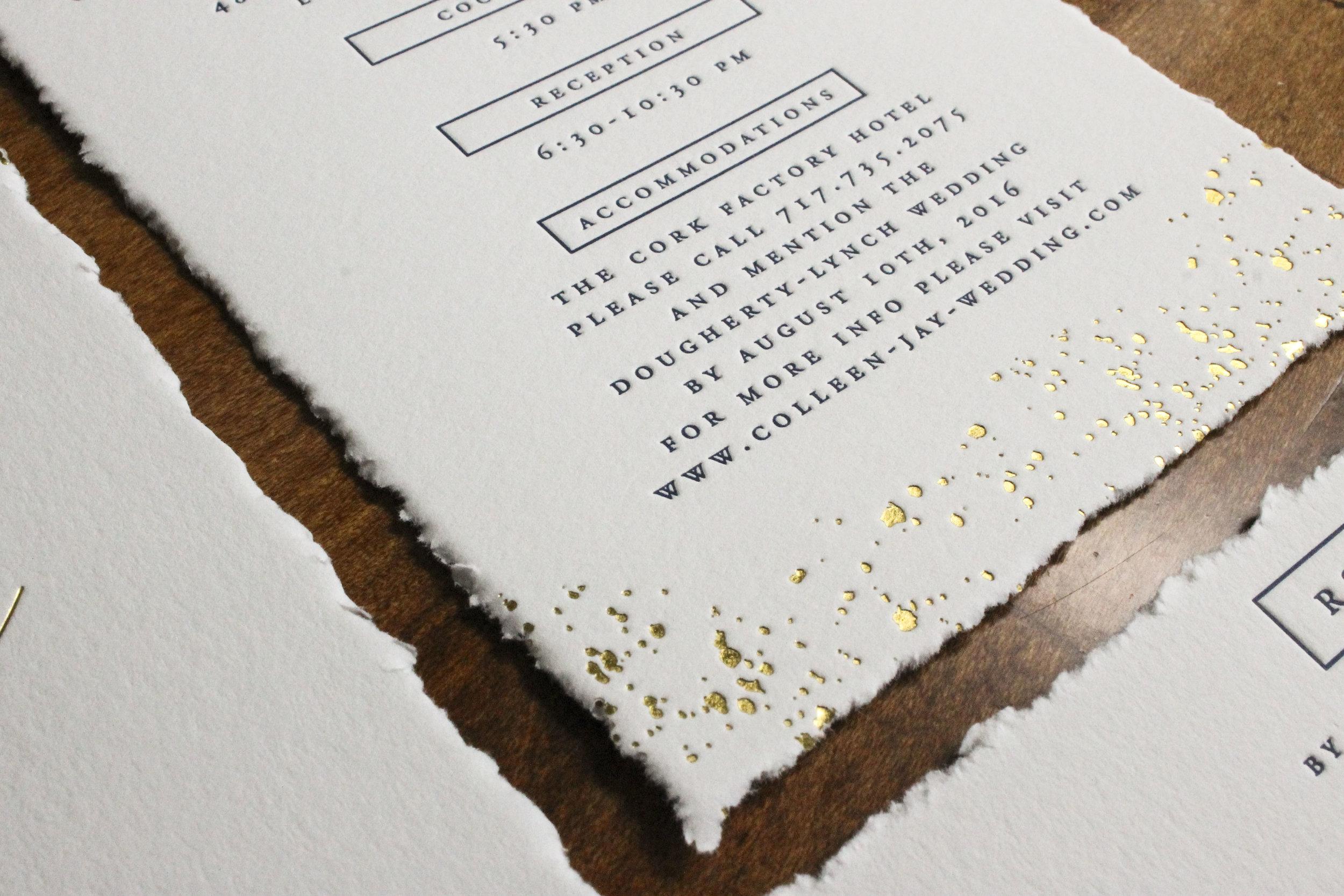 Magnificent Gold Letterpress Wedding Invitations Gift - Invitations ...