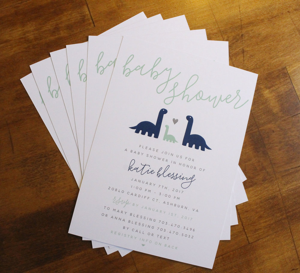 Baby Shower Invitation Dinosaurs