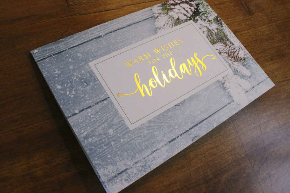 Holiday Card Gold Foil Stamp