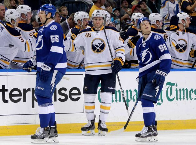 Franson scores his first against the reigning Eastern Conference Champs.  Photo from fairchildcitizenonline.com