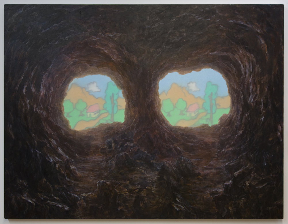 Untitled (Cave), 2017, 46X60, Oil on canvas.jpg