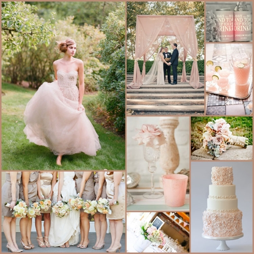 From The Catwalk To Your Guests Drinks Blush Pink Peach Thru Pale