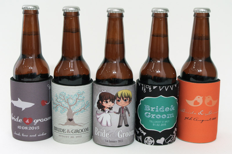 Our gallery of popular cartoon wedding stubby holders