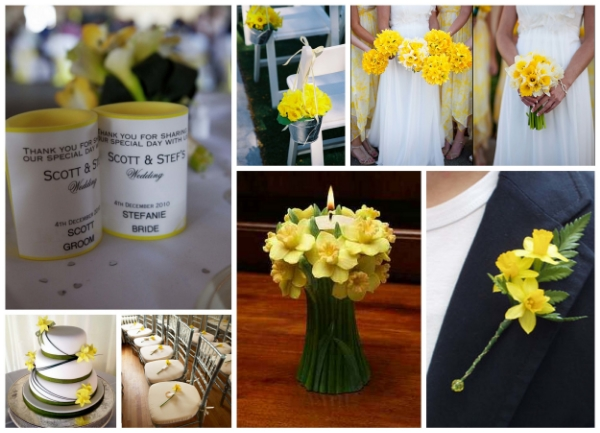 Add a lemon yellow interior foam to your wedding stubby holders to complete the look!