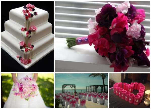 Fuchsia pink is beautiful, vibrant colour that works so well with hot climate weddings.